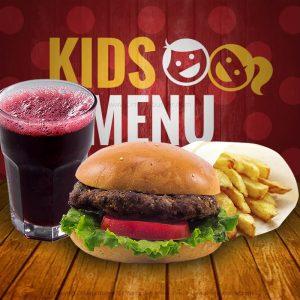 Kids Menú: Cinema Burger®