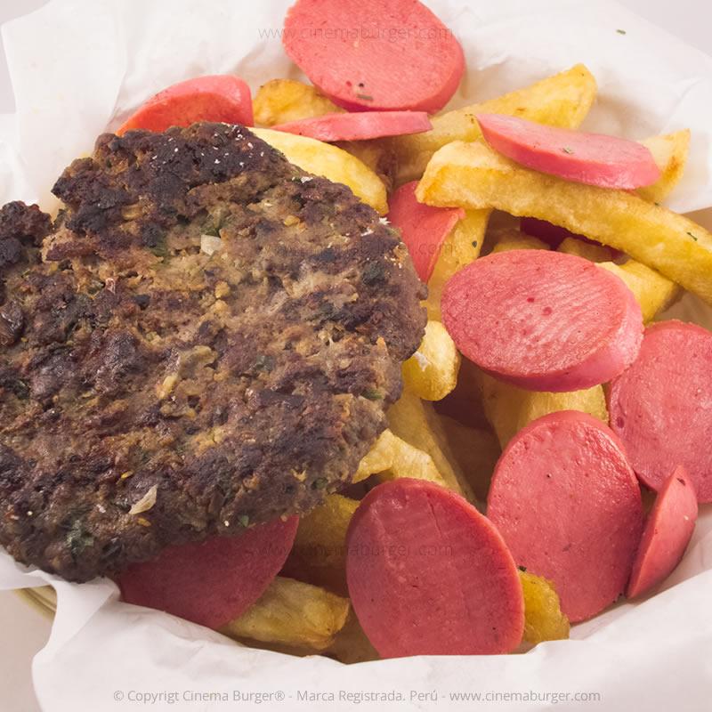 Salchipapa Burger papa - Cinema Burger®