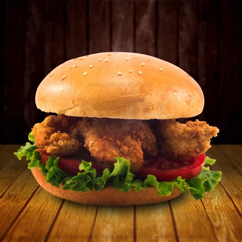 Sándwich Crunch de Pollo - Cinema Burger®