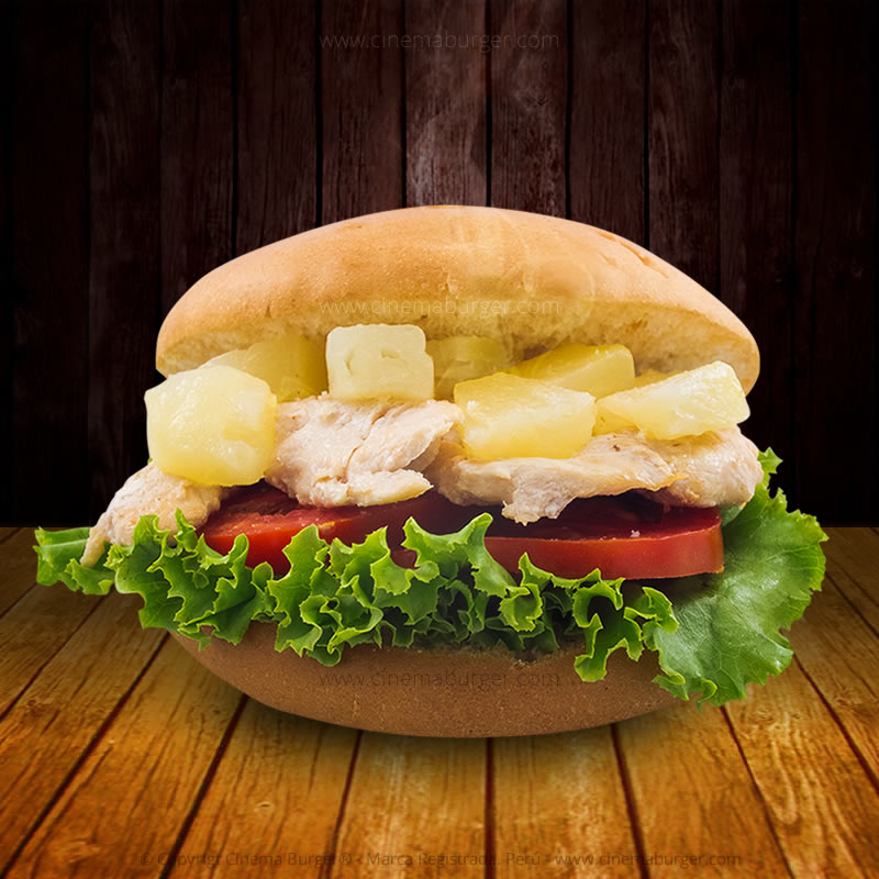 Sándwich de Pollo con piña - Cinema Burger®