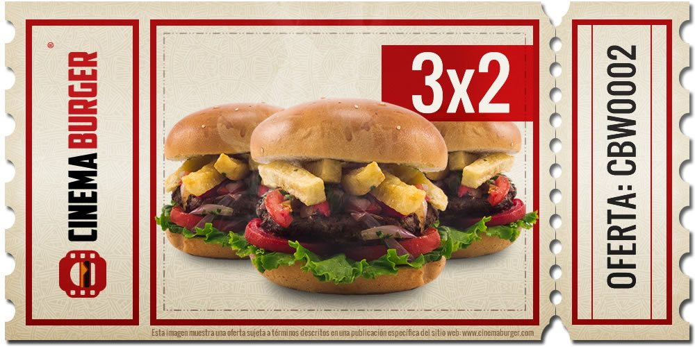 Oferta CBW002 - Cinema Burger®