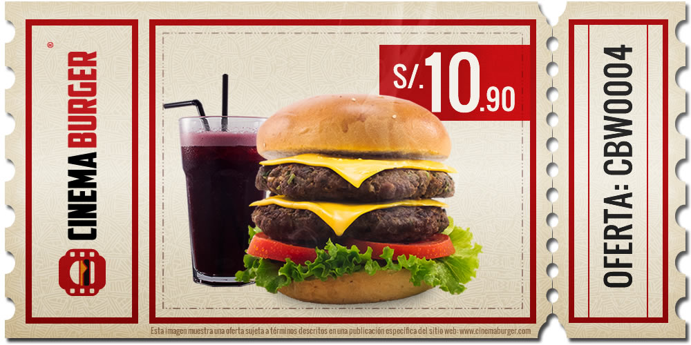 Oferta CBW004 - Cinema Burger®