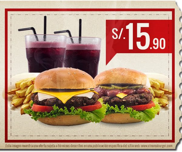 Oferta CBW001 - Cinema Burger®