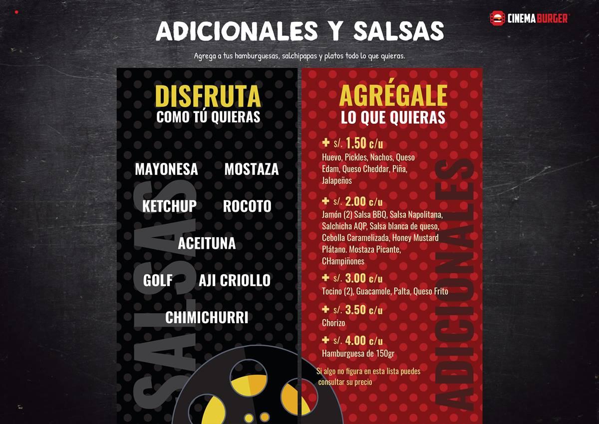6. Adicionales y Salsas